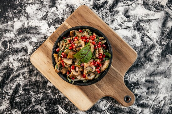 """""""Chashushuli with mushrooms"""" - the Best to choose as a Vegetarian dish."""