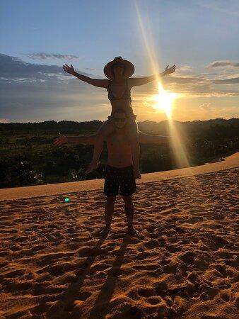 Foto tirada pelo Índio - por do sol nas dunas