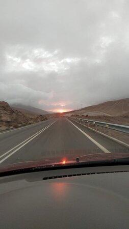Putre, Chile: puesta de sol copaquilla