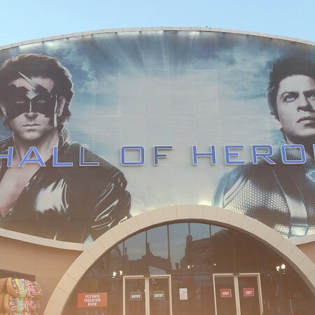 Hall of Heroes Entrance (home of Ra One: Unleashed and Krrish: Heroes Flight).