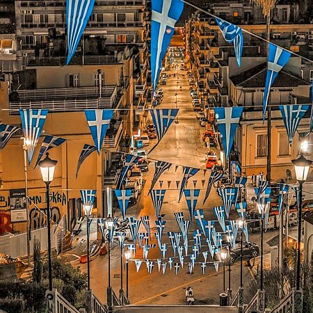 Patras, Greece: 25th of March. The 200th anniversary of Greece's Independence Day 1821-2021 🇬🇷🇬🇷🇬🇷