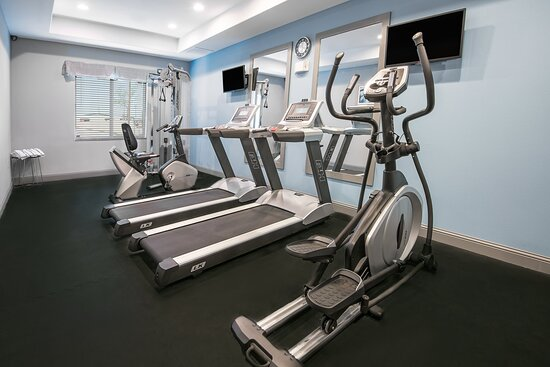 24 hour Onsite Exercise and Fitness Center - Cardio and Weights