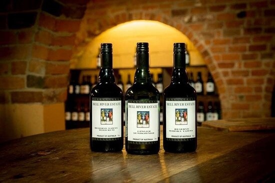 Taste a wide range of white and dark fortified wines in our underground cellar