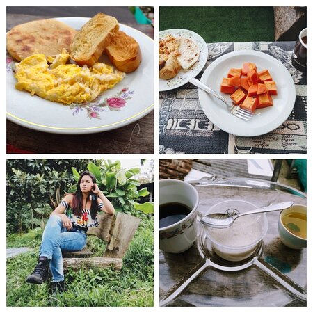 A Nuestra anfitriona le gusta que nuestros huéspedes se sientan como en casa, sus desayunos son un privilegio para iniciar una maravillosa jornada. Invitamos a seguir confiando en nuestros cuidados.