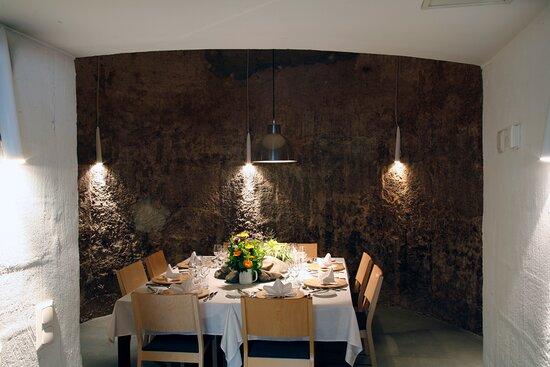 Laukaa, Finlândia: Navettaravintolassa on vanhaan pyöreään rehuvastoon tehty kabinetti