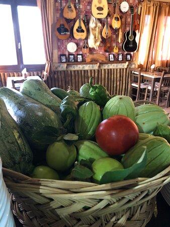Fresh Vegetables from our garden
