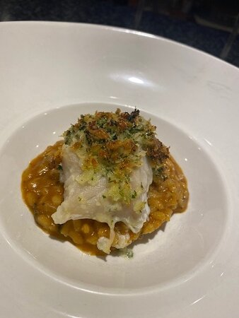 Herb Crusted Cod & Shrimp Risotto
