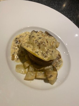 Tenderloin Foie Gas Ravioli Truffle Sauce