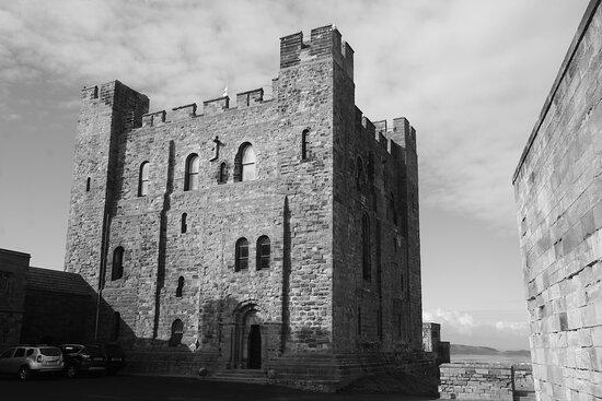 Bamburgh Castle Entrance Ticket: Bamburgh, Northumberland, England, United Kingdom, Bamburgh Castle - the keep.