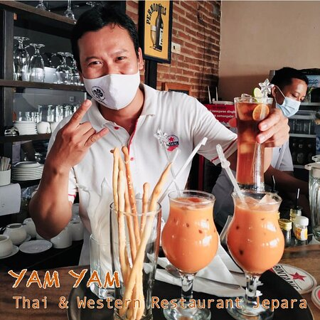 YAM YAM Restaurant Jepara is Open Everyday!!!!!! Full service Nonstop. Special info from the 23rd-31st of march 2021 the Open hours will be from 8:00-21:00 ( last order 20:15, last order for take away until 20:45)  See you... Kiss (from faraway) All staff YAM YAM 😘