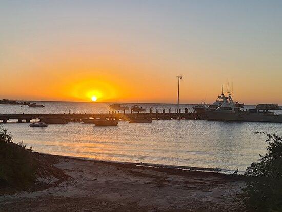 Leeman, Australia: Sunset view of the jetty