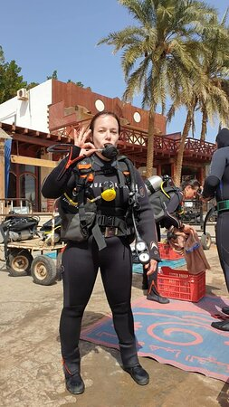 Dahab, Egypten: Готовимся к погружению / Getting ready for our dive