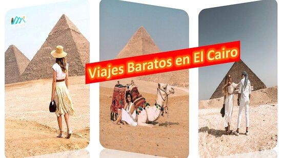 Kairo, Egypten: All Tours Egypt te ofrece viajes baratos en El Cairo para disfrutar de ver la civilización de los faraones egipcios. En viajes baratos en El Cairo puedes visitar las Pirámides de Guiza que son Keops, Kefrén y Micerinos, la Esfinge que es una criatura mítica, el Museo Egipcio que contiene más de 120.000 piezas históricas, la ciudadela de Saladino que en su interior puedes ver la Mezquita de Mohammed Ali, el viejo Cairo y el bazar de Khan El Khalili donde puedes hacer compras.