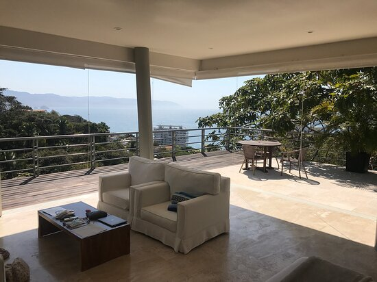 top level bedrooms open on 2 sides to a huge balcony with amazing view