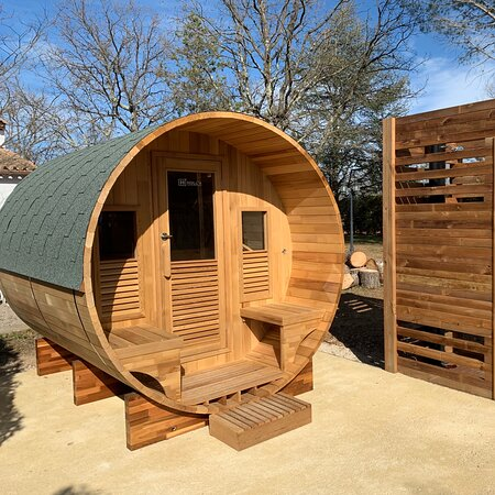 Sauna and outside shower