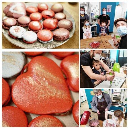Le Bourg-d'Ire, França: Atelier macarons