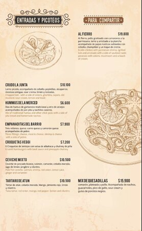 Penalolen, Şili: Menu comida