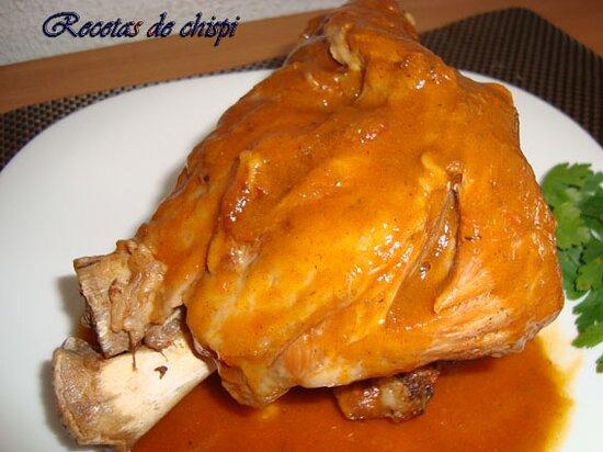 Province of Badajoz, สเปน: Codillo de cerdo en salsa