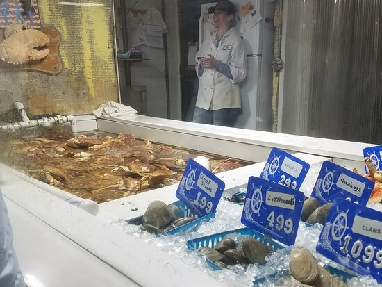 Beautiful fresh seafood