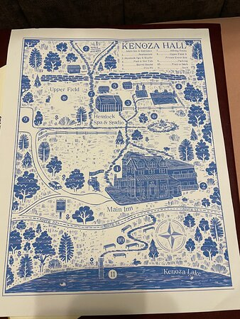Kenoza Lake, NY: Map of the grounds in our room
