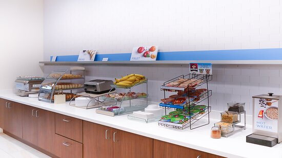 In addition to hot items, our free breakfast includes fresh fruit