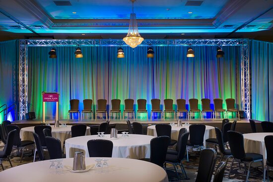 The Belmont Grand Ballroom featuring our professional in-house A/V