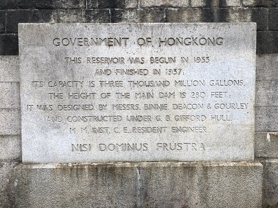 Memorial Stone Of Shing Mun Reservoir