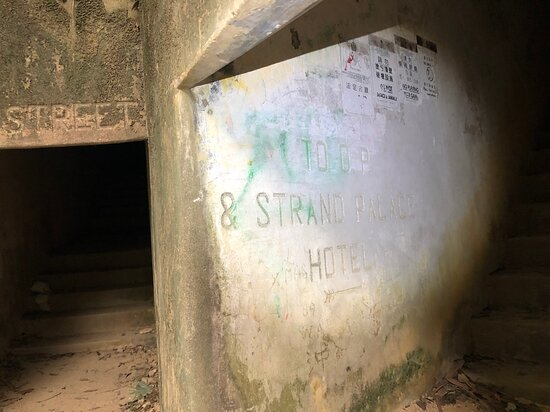 Shing Mun War Relics Trail - the tunnels have names of streets and venues from London