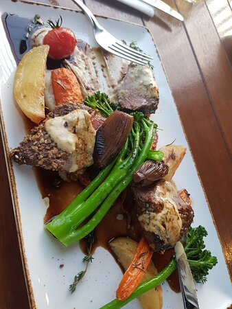 Duqqa encrusted roast Lamb.