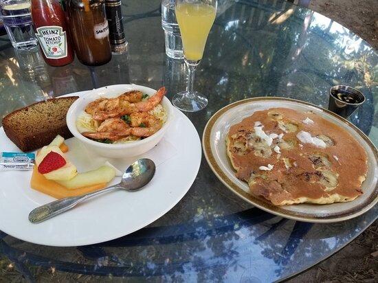 Food was average - breakfast
