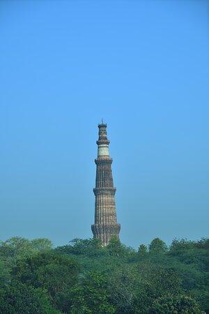 The Qutub Minar as seen from the Mehrauli Archaeological Park