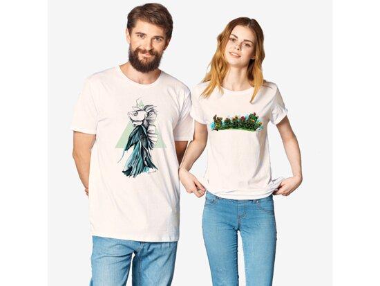 Candelaria, Spain: T-Shirts Man Woman, Organic Cotton, Canarian Artists