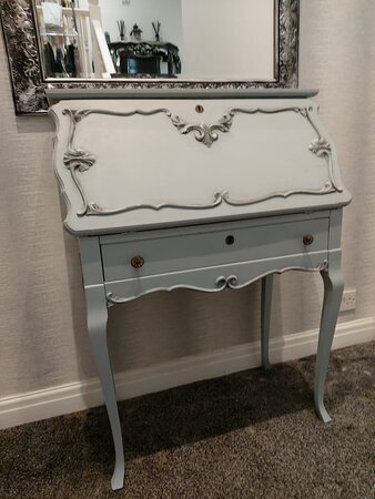 French style military bureau painted in Frenchic duckling and panther