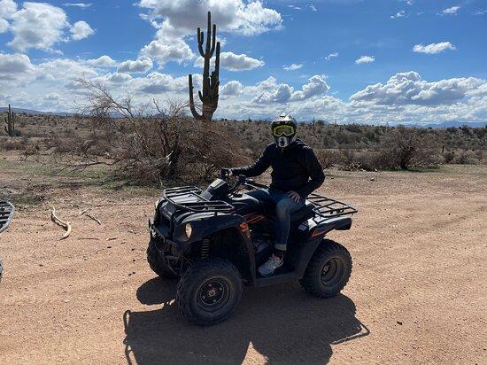 Sonoran Desert 2 Hour Guided ATV Adventure: Steve on the single ATV
