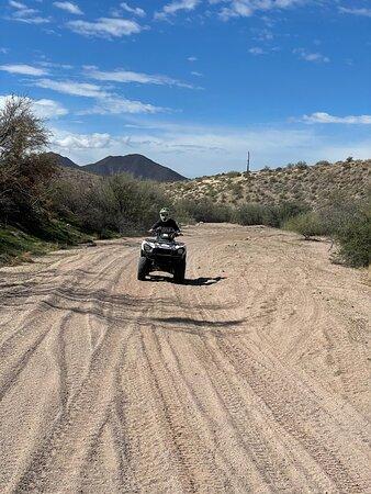 Sonoran Desert 2 Hour Guided ATV Adventure: Evan on the single ATV