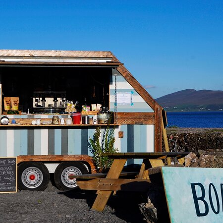 The Boathouse overlooks the Wild Atlantic Ocean and our cafe trailer is the perfect spot to sit and enjoy a treat.