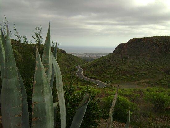 Výhled k oceánu a dunám v Maspalomas