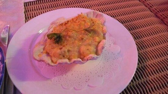 Petit Raffray: Seafood Gratin.