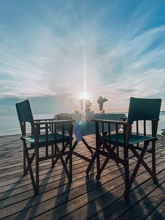 dining on sunset deck