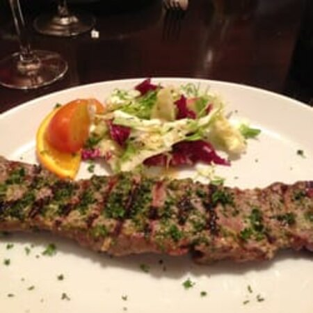 Lomo de Chorussco ( Specialist spiral cut of fillet steak marinated in tradition Argentinian chimichuri sauce