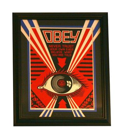 OBEY by Shepard Fairey Screen Print in a Frame of Mind Custom Frame