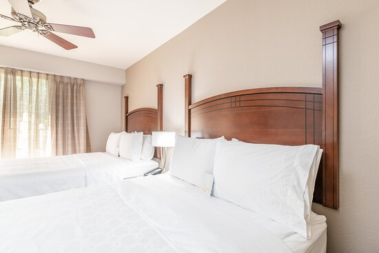 Our 1 bedroom 2 queen bed option is a favorite for families