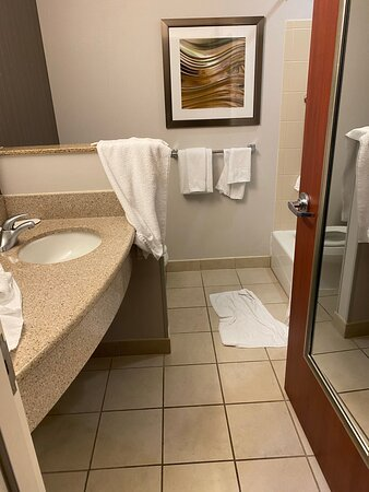 Condition of bathroom upon check in