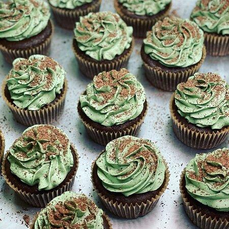 GF Chocolate Mint Cupcakes