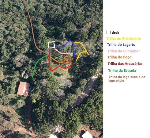 Sao Jose Dos Pinhais, PR: Cerca de 03 kms de trilhas internas para caminhada por pessoas de todas as idades. Estacionamento e campo base também para passeios com a Eco Guaricana em 08 reservas ambientais parceiras, sendo na região e outras cidades próximas.