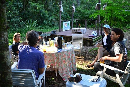 Sao Jose Dos Pinhais, PR: Um espaço de contemplação da Mata Atlântica em meio às araucárias. Os visitantes participam de day use com café no bosque.