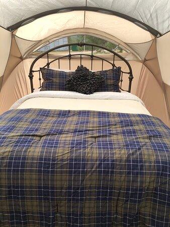 Cozy Tent at Bluebird Mesa Earth Home