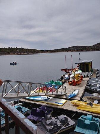 Arizona: Parker Canyon Lake rental dock