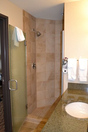 Large Walk In Shower in our King Feature Room