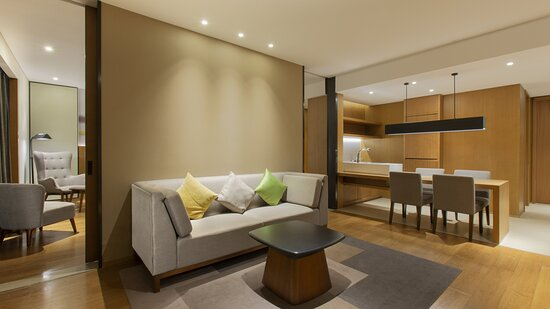 Supersized Suite Living Room with bar